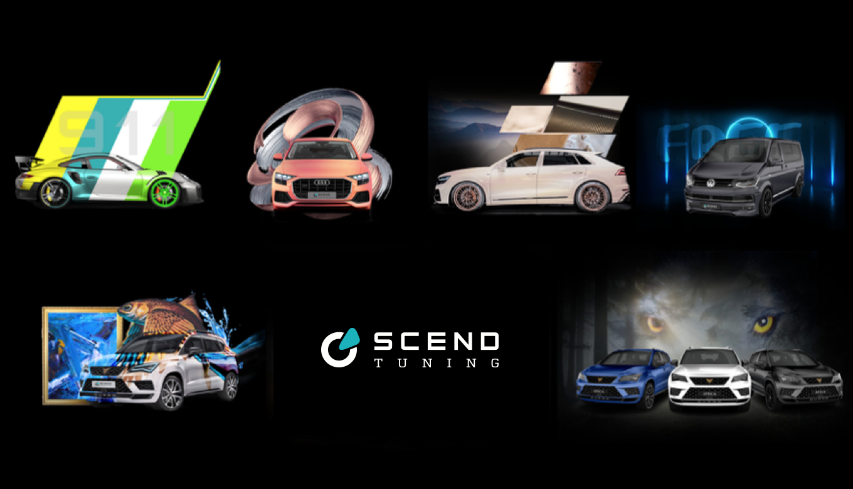 Eine Auswahl an Fahrzeugtuning Konzepten von Scend Tuning
